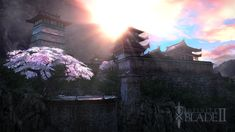 Beautiful Japanese garden that was shoehorned into the beginning of Infinity Blade II