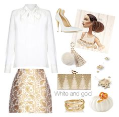 """""""White and gold"""" by nicolevalents ❤ liked on Polyvore featuring Parker, STELLA McCARTNEY, KOTUR, SPINELLI KILCOLLIN, Chanel, Giuseppe Zanotti and Juicy Couture"""