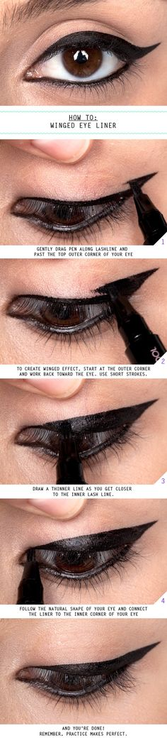 How To Winged Eye Liner