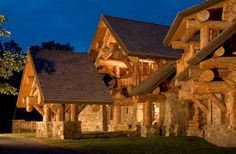This log home in New York's Hudson Valley uses logs averaging 18 inches in diameter.
