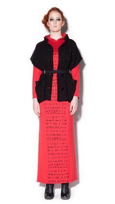 MAGGIE - maxi dress / IRMA -vest /  DAN - belt