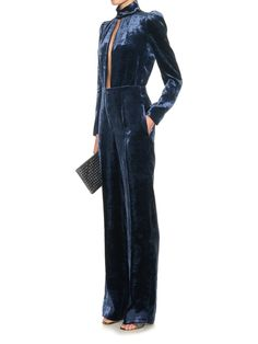 Safety-pin velvet jumpsuit | Sonia Rykiel | MATCHESFASHION.COM UK