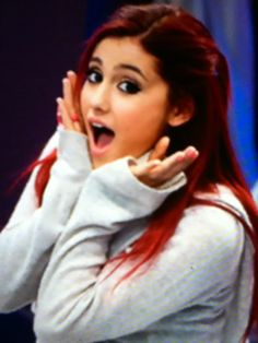 """Cat likes to practice her facial expressions. This is """"scared."""" It's her favorite. Victorious Cast, Bae, Icarly, Facial Expressions, Ariana Grande, It Cast, Expression Sheet"""