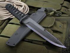 Warren Thomas Yori Toshi Carbon Fiber & Ti Fixed Blade Knife - SOLD
