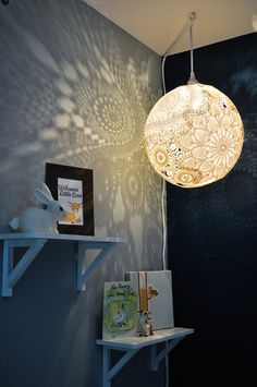 32 Lovely and Easy DIY Chandelier Ideas You Should Try - Wonderful Doily DIY Chandelier #DIY #homedecor