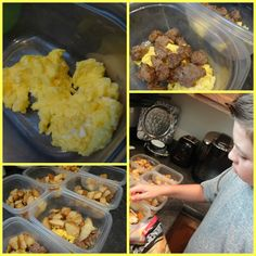 Make ahead breakfast bowls - freezeable