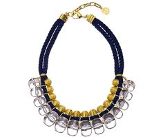 Ben-Amun Cord And Bauble Statement Necklace