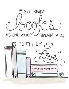 Annie Dillard This would be cute print for a shirt or a book bag.