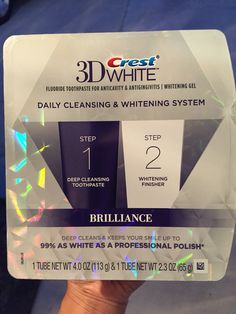 Give Crest® 3D White™ Brilliance Daily Cleansing & Whitening System a try! So awesome. Amazing results after a few days and it only takes 2 mins! #PowerCouple #Sponsored