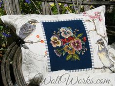 Salvaged Needlepoint Pillow Slip at www.WollWorks.com