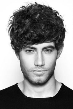 sexy and mysterious curly mens style