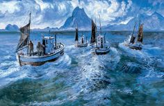Karl Erik Harr 1940 Educated at the Art Academy, and has gradually built a position as one of Norway's most popular and renowned contemporary artists. Scandinavian Art, Art Academy, Lofoten, Contemporary Artists, Sailing Ships, Norway, Sculptures, Painting, Boats