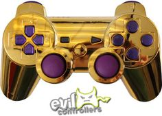 Gold with Polished Purple