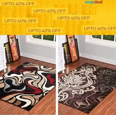 Pre-Festive #offers up to 40% are with #snapdeal on our #carpets, #AreaRugs, #Mats.   Buy our #Designs from #snapdeal and avail attractive #offers by following the #image.
