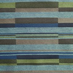 Remnant of Bass Line Blue Note Blue Upholstery Fabric - Order Product / 4 1/8