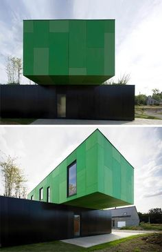 Shipping Container Homes: Crossbox by CG Architects - Pont Péan, France - Shipping Container Home