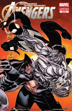 Avengers: X-Sanction Cover: Cable, Wolverine, and Spider-Man Fighting by Tom Raney Marvel Comics Poster - 61 x 91 cm All Marvel Characters, Comic Book Characters, Comic Character, Comic Books Art, Comic Art, Marvel Vs, Gi Joe, Black Spiderman, Spider Man
