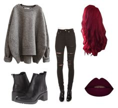 """""""Sweater weather"""" by tarsibitch ❤ liked on Polyvore featuring Yves Saint Laurent and Timberland"""