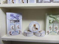 Hunca Munca toiletries for the dollhouse baby Baby Toiletries, Perfume, Beatrix Potter, Dollhouse Miniatures, Scale, Nursery, Candles, Kit, Bottle