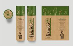 Cylinder cardboard tube for Luxury Bamboo Tool Set. by okdesignstudio Organic Packaging, Tea Packaging, Food Packaging Design, Luxury Packaging, Packaging Design Inspiration, Branding Design, Label Design, Set Design, Design Ideas