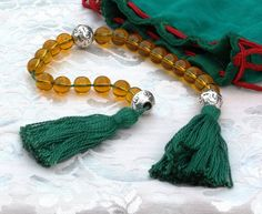 2 Decade Linear Medieval Rosary PATERNOSTER - Amber & Silver, SCA Re-enactors Garb Larp $ 19.00 AUD Only 1 available  Overview      Han...