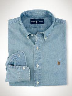 Custom-Fit Chambray Shirt - Polo Ralph Lauren Custom-Fit - RalphLauren.com