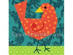 Birdie Bird paper piecing quilt block pattern INSTANT DOWNLOAD PDF
