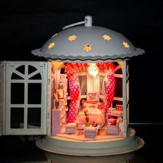 Lantern miniature room. Can't locate the original source.