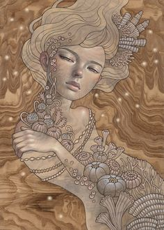 """supersonicart: """" Audrey Kawasaki for """"Elysium"""" at Thinkspace Projects. New paintings by artist Audrey Kawasaki for the group exhibition, """"Elysium,"""" currently on view at Thinkspace Projects in Los. Illustration Artists, Illustrations, Pop Surrealism, Art Fair, American Artists, Traditional Art, Oeuvre D'art, Female Art, Les Oeuvres"""