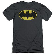 BATMAN/CLASSIC BAT LOGO - S/S ADULT 30/1 - CHARCOAL -
