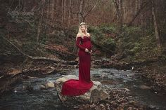 Fitted Maternity Gown / Emerlie Gown / by SewTrendyAccessories