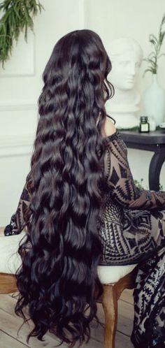 Really Long Hair, Super Long Hair, Beautiful Long Hair, Gorgeous Hair, Pretty Hairstyles, Girl Hairstyles, Long Curly Black Hair, Black Hair Aesthetic, Hair Upstyles