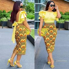 ankara stil Owning Ankara material is very easy but deciding on topnotch style to sew can be difficult atimes. For some individuals like myself, we have to browse till we can find classy Ankara styles. African Fashion Ankara, Latest African Fashion Dresses, African Inspired Fashion, African Dresses For Women, African Print Dresses, African Print Fashion, African Attire, African Wear, African Women