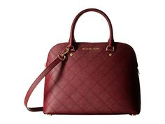 MICHAEL Michael Kors Cindy Large Dome Satchel Merlot - Zappos.com Free Shipping BOTH Ways