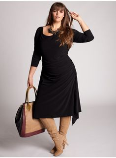 Milan Plus Size Dress - Fall 2012 by IGIGI  Love this whole look. Effortlessly Sexy and comfortable.