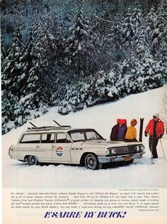 It's ski season in many parts of the US.  Check out this round up of skiing-inspired vintage car ads.