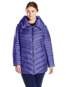 6e1f6e11b10 Marc New York by Andrew Marc Women s Plus-Size Kirby Chevron Down Coat