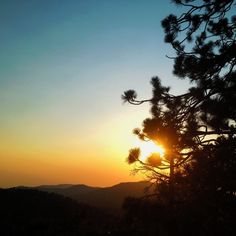 Before it was over #mountain #sunset