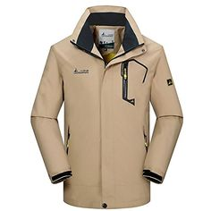 iisport Mens Softshell Jacket Big Size Plus Size Hooded Coat Fit for Climbling Hiking Camping etc Outdoor Sports * See this great product.