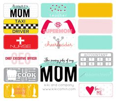 the jobs of mom..i love this for mother's day! #yearofcelebrations