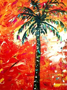 Palm Tree At Sunset Painting Acrylic Print by Rebecca or Becky Williams painting acrylic palm trees Palm Tree At Sunset Painting by Rebecca or Becky Williams Waterfall Paintings, Scenery Paintings, Nature Paintings, Tree Paintings, Beach Paintings, Palm Tree Art, Palm Trees, Blue Canvas Art, Family Painting