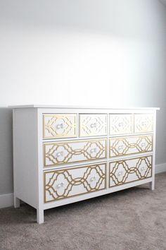 A Pretty Penny: DIY Ikea Dresser Hack: My Overlays...