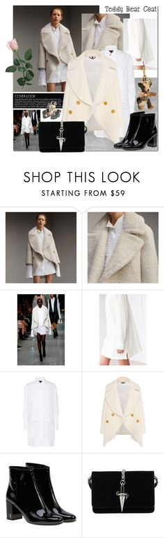 """Teddy Bear Coat"" by elena-777s ❤ liked on Polyvore featuring Burberry, BDG, Yves Saint Laurent, Cesare Paciotti, Garance Doré, runwaytorealway, 2017 and autumnwinter2016"