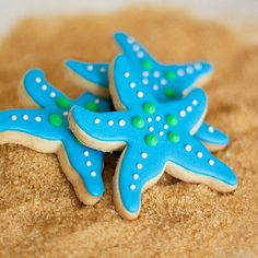Starfish cookies, super-cute! I'd make sugar cookies with royal icing using this idea to decorate.