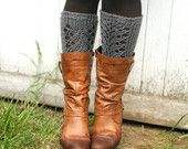 Lacefield Knit Legwarmers - Boot Toppers  -  Rust Rooibos Red. $28.00, via Etsy.