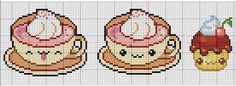 Kawaii  cups and cupcake pattern  by  *YuikoHeartless
