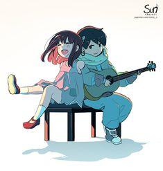 A song to sing Sad Anime Girl, Anime Art Girl, Drawing Base, Manga Drawing, Dark Art Illustrations, Illustration Art, Sun Projects, Arte Indie, Ange Demon