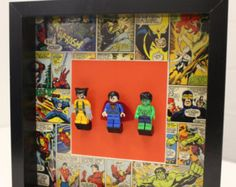 Sale Lego Mini-Figures Frame Avengers Batman by SWEETINDIGO