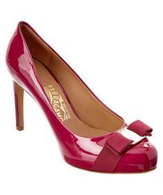 10792ec60 SALVATORE FERRAGAMO Salvatore Ferragamo Pimpa Vara Bow Patent Platform  Pump .  salvatoreferragamo  shoes  pumps   high heels