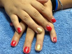 A Nu Look Studio Nail and Spa in Pensacola, FL  Acrylic overlay with Shellac.